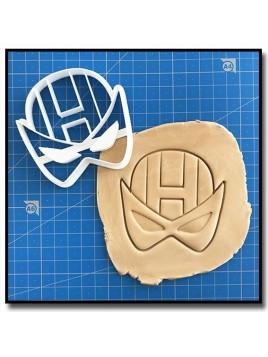 Oeil-de-Faucon 001 - Emporte-pièce pour pâtes à sucre et sablés sur le thème Super-Heros