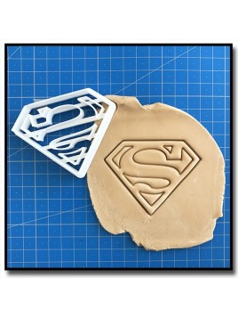 Superman 001 - Emporte-pièce pour pâtes à sucre et sablés sur le thème Super-Heros