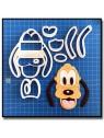 Pluto Visage 101 - Emporte-pièce en Kit pour pâtes à sucre et sablés sur le thème La bande de Mickey