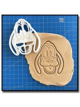 Pluto Visage 001 - Emporte-pièce pour pâtes à sucre et sablés sur le thème La bande de Mickey
