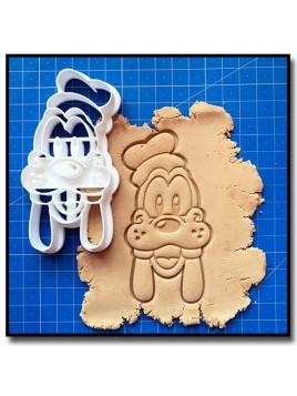 Dingo Visage 001 - Emporte-pièce pour pâtes à sucre et sablés sur le thème La bande de Mickey