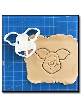Porcinet Visage 001 - Emporte-pièce pour pâtes à sucre et sablés sur le thème Winnie l'ourson