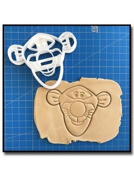 Tigrou Visage 001 - Emporte-pièce pour pâtes à sucre et sablés sur le thème Winnie l'ourson