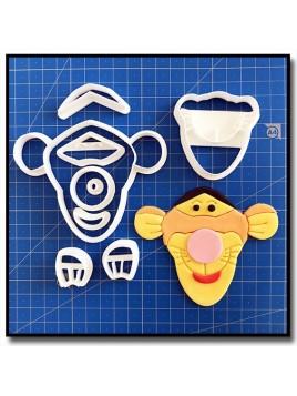 Tigrou Visage 101 - Emporte-pièce en Kit pour pâtes à sucre et sablés sur le thème Winnie l'ourson