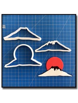 Mont Fuji 101 - Emporte-pièce en Kit pour pâtes à sucre et sablés sur le thème Japon