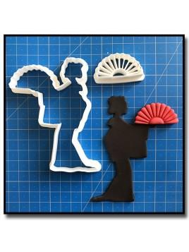 Geisha 101 - Emporte-pièce en Kit pour pâtes à sucre et sablés sur le thème Japon