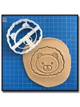 Lion Visage 001 - Emporte-pièce pour pâtes à sucre et sablés sur le thème Safari