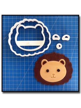 Lion Visage 101 - Emporte-pièce en Kit pour pâtes à sucre et sablés sur le thème Safari