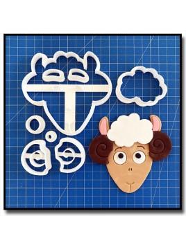 Mouton Visage 102 - Emporte-pièce en Kit pour pâtes à sucre et sablés sur le thème Animaux de la ferme