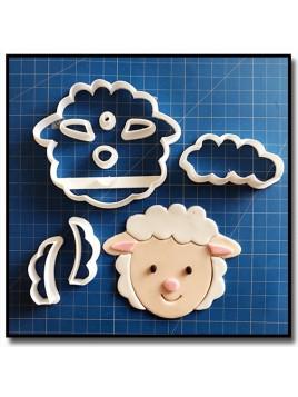 Mouton Visage 103 - Emporte-pièce en Kit pour pâtes à sucre et sablés sur le thème Animaux de la ferme