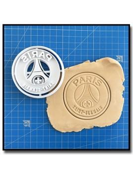 Paris-Saint-Germain PSG 002 - Emporte-pièce pour pâtes à sucre et sablés sur le thème Football