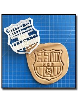 FC Barcelone 001 - Emporte-pièce pour pâtes à sucre et sablés sur le thème Football