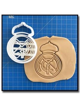 Real Madrid 001 - Emporte-pièce pour pâtes à sucre et sablés sur le thème Football