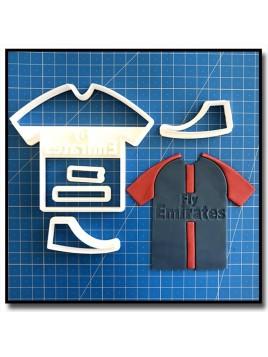 Maillot PSG 101 - Emporte-pièce en Kit pour pâtes à sucre et sablés sur le thème Football