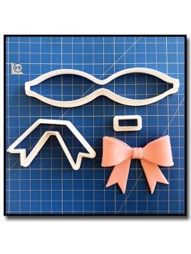 Nœud 102 - Emporte-pièce en Kit pour pâtes à sucre et sablés sur le thème Moustache & Noeud Pap