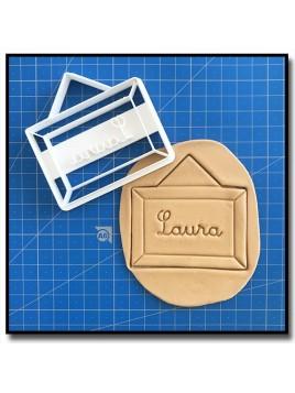 Tableau & Prénom 001 - Emporte-pièce pour pâtes à sucre et sablés sur le thème Rentrée scolaire