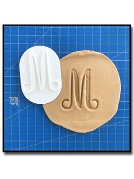 Lettrines Typographie 301 - Tampon pour pâtes à sucre et sablés sur le thème Alphabet & Nombre