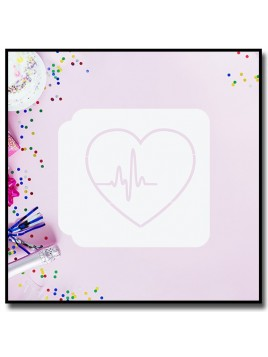 Coeur Battement 901 - Pochoir pour pâtes à sucre et sablés sur le thème Amour