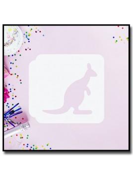 Kangourou 901 - Pochoir pour pâtes à sucre et sablés sur le thème Animaux sauvages