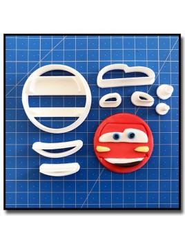 Flash McQueen Cars Cupcake 101 - Emporte-pièce en Kit pour pâtes à sucre et sablés sur le thème Cars