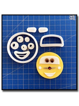 Luigi Cars Cupcake 101 - Emporte-pièce en Kit pour pâtes à sucre et sablés sur le thème Cars