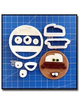 Martin Cars Cupcake 101 - Emporte-pièce en Kit pour pâtes à sucre et sablés sur le thème Cars