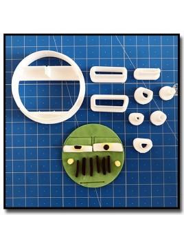 Sergent Cars Cupcake 101 - Emporte-pièce en Kit pour pâtes à sucre et sablés sur le thème Cars