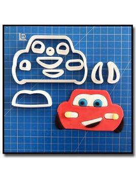 Flash McQueen Cars 101 - Emporte-pièce en Kit pour pâtes à sucre et sablés sur le thème Cars