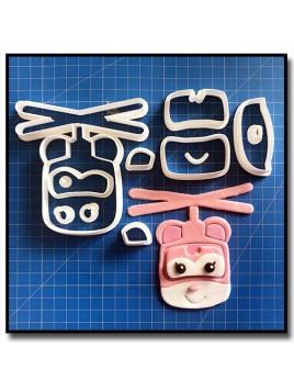 Dizzy Super Wings 101 - Emporte-pièce en Kit pour pâtes à sucre et sablés sur le thème Dessin Animés