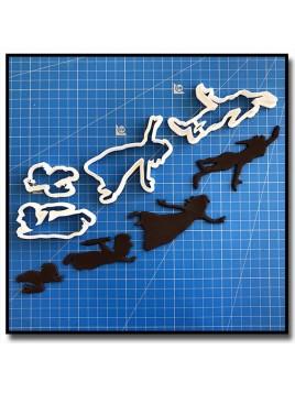 Peter, Wendy, John, Michael 201 - Emporte-pièce pour pâtes à sucre et sablés sur le thème Clochette et Peter Pan