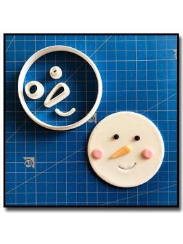Bonhomme de Neige Cupcake 101 - Emporte-pièce en Kit pour pâtes à sucre et sablés sur le thème Noël