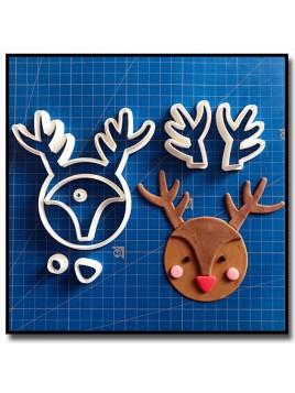 Renne Cupcake 101 - Emporte-pièce en Kit pour pâtes à sucre et sablés sur le thème Noël