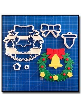 Couronne de Noël 101 - Emporte-pièce en Kit pour pâtes à sucre et sablés sur le thème Noël