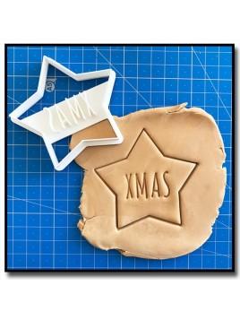 Etoile Xmas 001 - Emporte-pièce pour pâtes à sucre et sablés sur le thème Noël