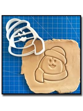 Pingouin de Noël 002 - Emporte-pièce pour pâtes à sucre et sablés sur le thème Noël