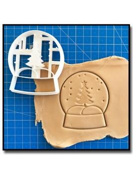 Boule de Neige 001 - Emporte-pièce pour pâtes à sucre et sablés sur le thème Noël