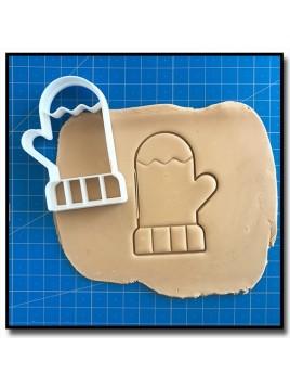 Moufle 001 - Emporte-pièce pour pâtes à sucre et sablés sur le thème Noël
