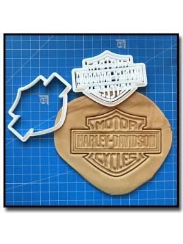 Harley Davidson Logo 001 - Emporte-pièce pour pâtes à sucre et sablés sur le thème Moto