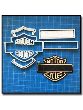 Harley Davidson Logo 101 - Emporte-pièce en Kit pour pâtes à sucre et sablés sur le thème Moto