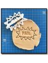 Bulle de BD et Prénom 001 - Emporte-pièce pour pâtes à sucre et sablés sur le thème Super-Heros
