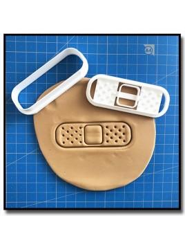 Pansement 001 - Emporte-pièce pour pâtes à sucre et sablés sur le thème Médical