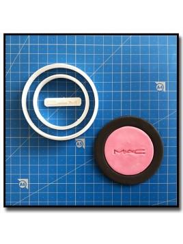 MAC Blush 101 - Emporte-pièce en Kit pour pâtes à sucre et sablés sur le thème Maquillage et Cosmetique