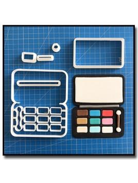 Palette de Maquillage 101 - Emporte-pièce en Kit pour pâtes à sucre et sablés sur le thème Maquillage et Cosmetique