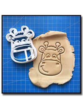 Girafe Visage 001 - Emporte-pièce pour pâtes à sucre et sablés sur le thème Safari