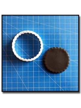Rond Dentelé 201 - Emporte-pièce pour pâtes à sucre et sablés sur le thème Plaques & Formes
