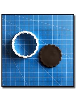 Rond Dentelé 203 - Emporte-pièce pour pâtes à sucre et sablés sur le thème Plaques & Formes