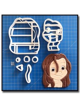 Tarzan enfant 101 - Emporte-pièce en Kit pour pâtes à sucre et sablés sur le thème Disney