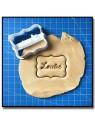 Plaque & Prénom 001 - Emporte-pièce pour pâtes à sucre et sablés sur le thème Personnalisée