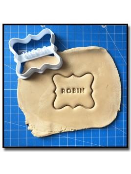 Plaque & Prénom 002 - Emporte-pièce pour pâtes à sucre et sablés sur le thème Personnalisée