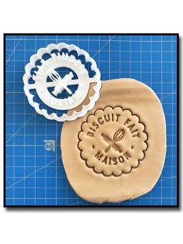 Fait Maison 001 - Emporte-pièce pour pâtes à sucre et sablés sur le thème Fait Main / Hand Made